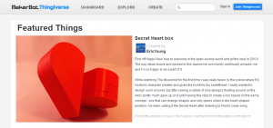 Thingiverse - Digital Designs for Physical Objects