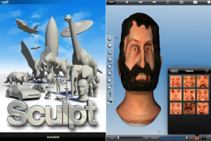iTunes の App Store で配信中の iPhone、iPod touch、iPad 用 123D Sculpt
